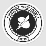 Support Your Local Artist Stickers
