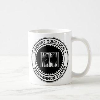 Support Your Local Backgammon Player Coffee Mug