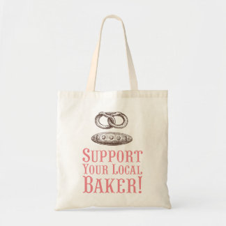 Support Your Local Baker Tote Canvas Bag