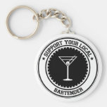 Support Your Local Bartender Keychain