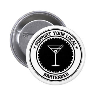 Support Your Local Bartender Pinback Button