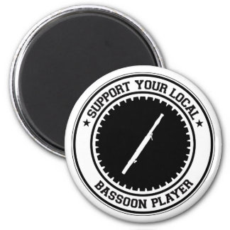 Support Your Local Bassoon Player Magnet