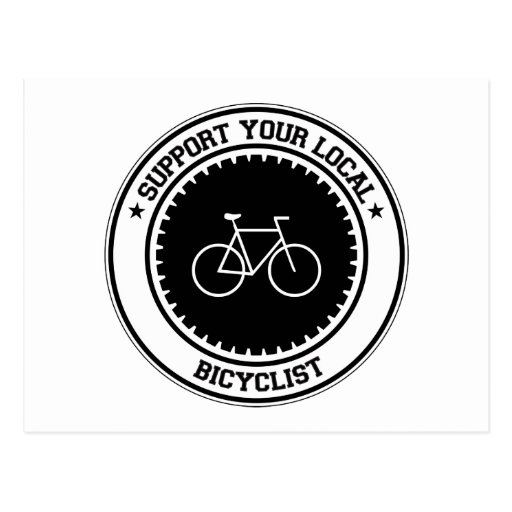 Support Your Local Bicyclist Postcard