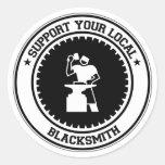 Support Your Local Blacksmith Round Sticker