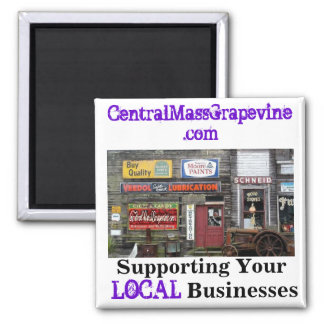 Support Your Local Businesses 2 Inch Square Magnet