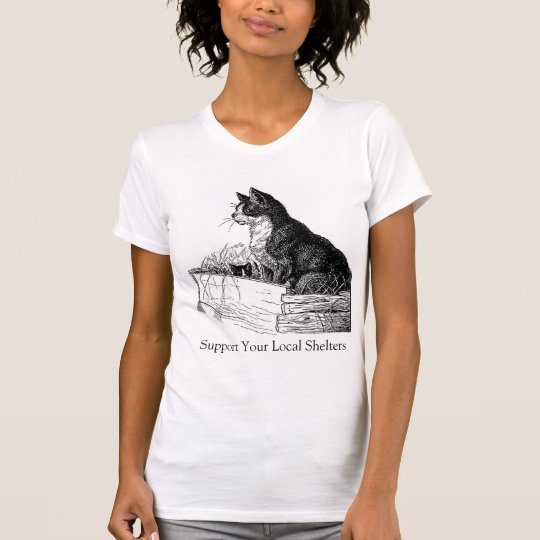 Support Your Local Cat Shelters EtchingT-shirt T-Shirt