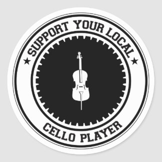 Support Your Local Cello Player Classic Round Sticker