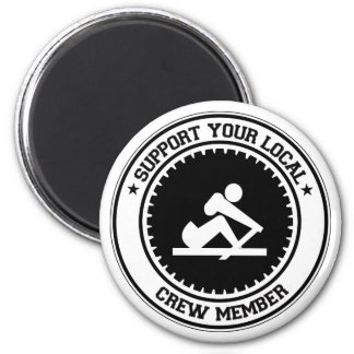 Support Your Local Crew Member Magnet