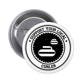 Support Your Local Curler Pinback Button