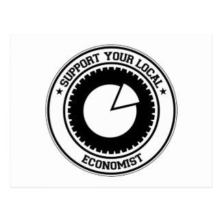 Support Your Local Economist Postcard