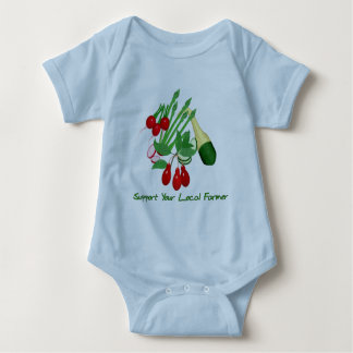 Support Your Local Farmer Baby Bodysuit