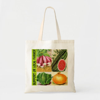 Support your local farmer budget tote bag