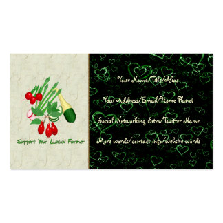 Support Your Local Farmer Double-Sided Standard Business Cards (Pack Of 100)