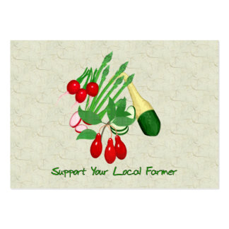 Support Your Local Farmer Large Business Cards (Pack Of 100)