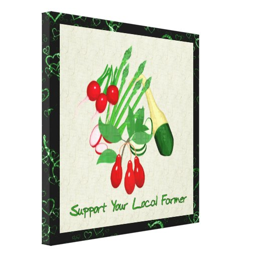 Support Your Local Farmer Gallery Wrap Canvas
