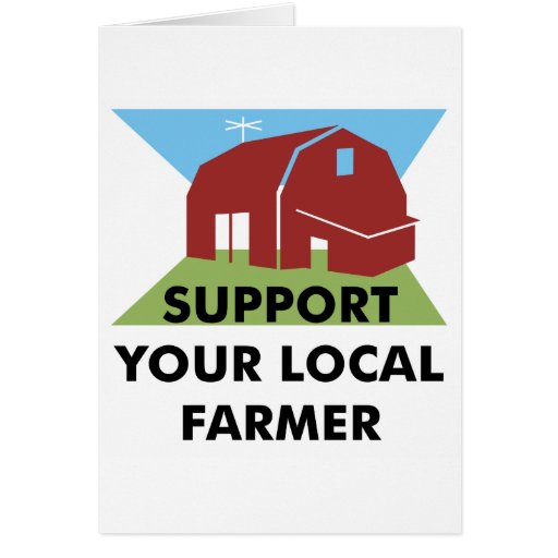 Support Your Local Farmer Card