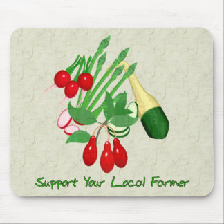 Support Your Local Farmer Mouse Pad
