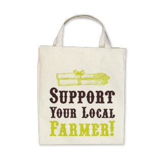 Support Your Local Farmer! Organic Tote Tote Bag
