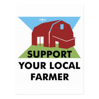 Support Your Local Farmer Postcard