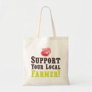 Support Your Local Farmer Tote Canvas Bag