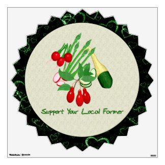 Support Your Local Farmer Wall Decal