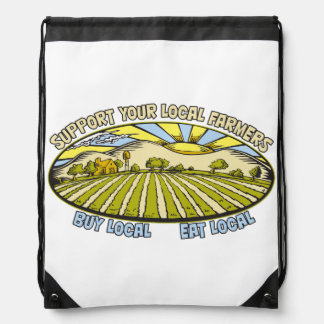 Support Your Local Farmers Cinch Bags