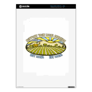 Support Your Local Farmers Decals For iPad 2