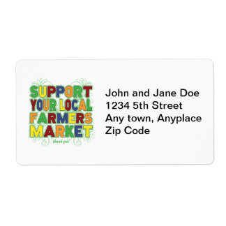 Support Your Local Farmers Market Shipping Label
