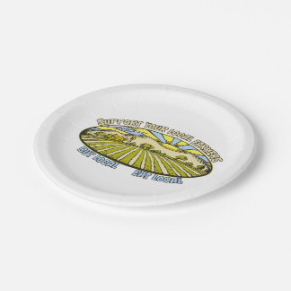 Support Your Local Farmers Paper Plate