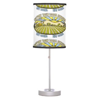 Support Your Local Farmers Table Lamp