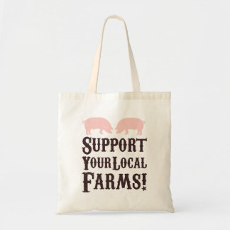 Support Your Local Farms! Tote Budget Tote Bag