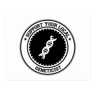 Support Your Local Geneticist Postcard