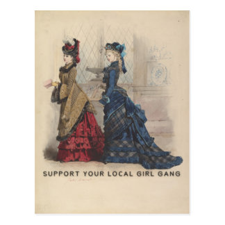 Support Your Local Girl Gang Postcard