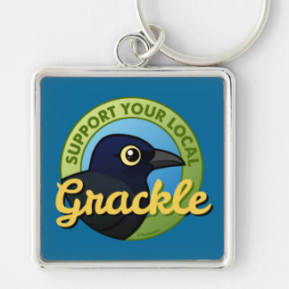 Support Your Local Grackle Keychain