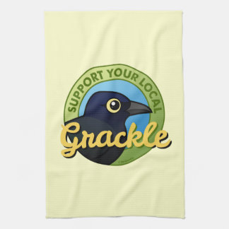 Support Your Local Grackle Kitchen Towel