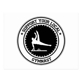 Support Your Local Gymnast Postcard
