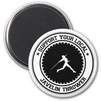 Support Your Local Javelin Thrower Magnet