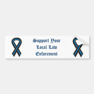 Support Your Local Law Enforement Bumper Sticker