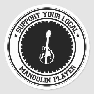 Support Your Local Mandolin Player Stickers