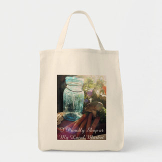 Support your local market shopping bag