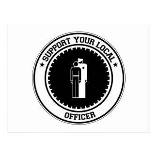 Support Your Local Officer Postcard