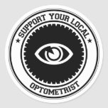 Support Your Local Optometrist Round Sticker