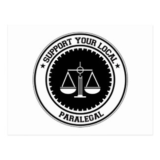 Support Your Local Paralegal Postcards