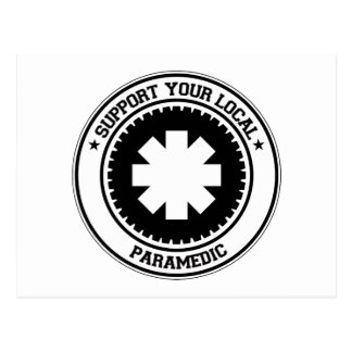 Support Your Local Paramedic Postcard