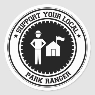 Support Your Local Park Ranger Round Stickers