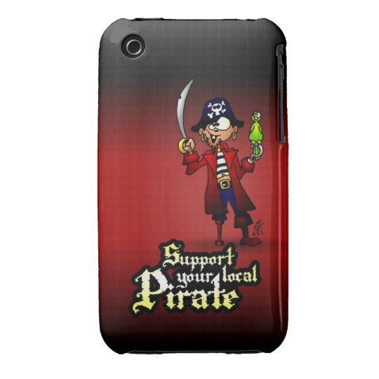 Support your local Pirate iPhone 3 Cover