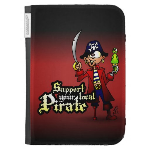 Support your local Pirate Kindle Folio Cases