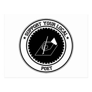 Support Your Local Poet Postcard
