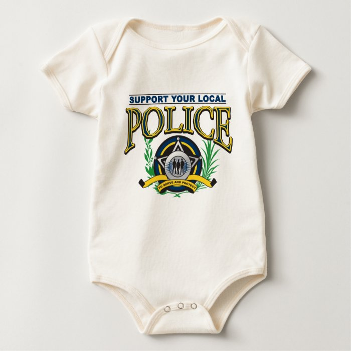 Support Your Local Police Baby Bodysuit
