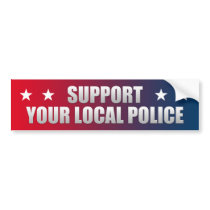 Support Your Local Police Bumper Sticker